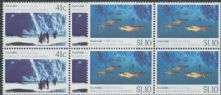 AUS SG1261-2 Australian-Soviet Scientific Co-operation in Antarctica set of 2 blocks of 4